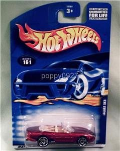 Hot Wheels (ホットウィール) 2001 #161 Jaguar (ジャガー) Xk8 with Pr5 Hubs 1:64 スケール ミニカー ダイキャスト 車 自動車 ミニチュア 模型 (並行輸入)