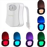 YouOKLight 電池式 ランプPIR LEDモーション活性化ナイトライトホームバスルームのトイレLEDライトセンサーをぶら下げトイレナイトライト8色のトイレのランプ 1個入