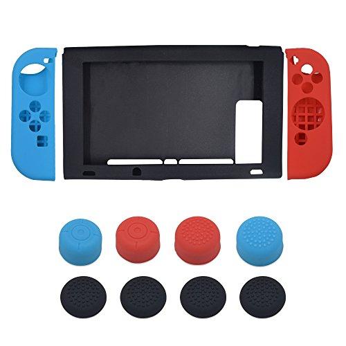 iitrust Nintendo Switch ケース +Joy-Con ゲームパッド 保護カバー シリコン素材 カバー スイッチ保護ケース 任天堂 スイッチ ケース 着脱簡単 心地よい手触り iitrust 並行輸入品