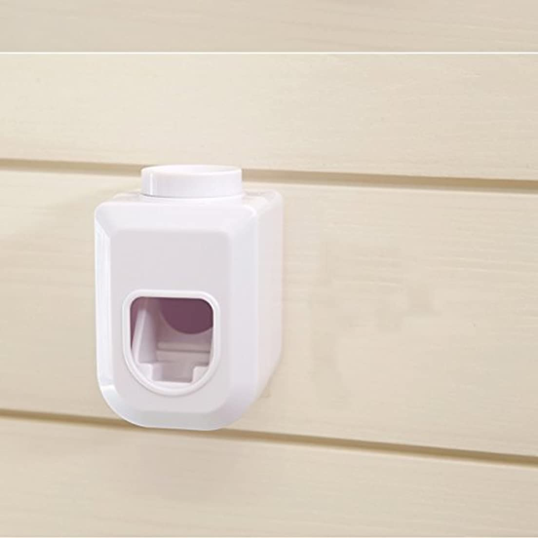 照らす限られた誓いBESTOMZ ハンズフリー歯磨き粉スクイーザー, ウォールマウント自動防塵練り歯磨き粉ディスペンサー白