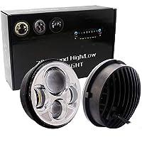 5.75Inch LEDハローヘッドライト ジープラングラーのために、 クリーLEDチップ、 300W 6500kHi / Loビーム ダブルハローリングエンジェルアイズ 車用バルブ 取り付け簡単 調整可能