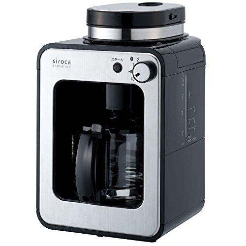 シロカ コーヒーメーカー 全自動 ガラスサーバー ブラック S...