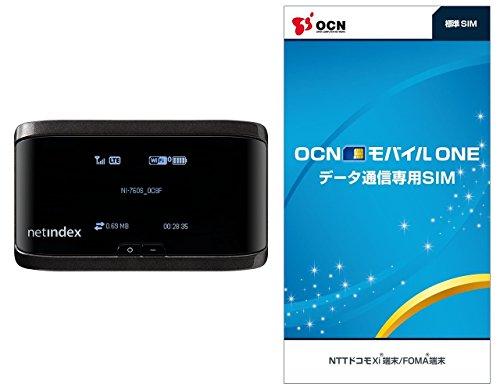 【OCN モバイル ONE 標準SIM付きセット】LTE対応 モバイ ルルーター月額900円(税抜)~ NI-760S