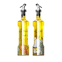 調味料ボトル、 キッチンクルートグラス醤油ボトルリークプルーフシックなビネガーボトルシールボトルオイルポット透明なヨーロッパスタイルの無鉛キッチン用品(6.5X30.5CM) ++ (色 : A (6.5X30.5cm/500ml))
