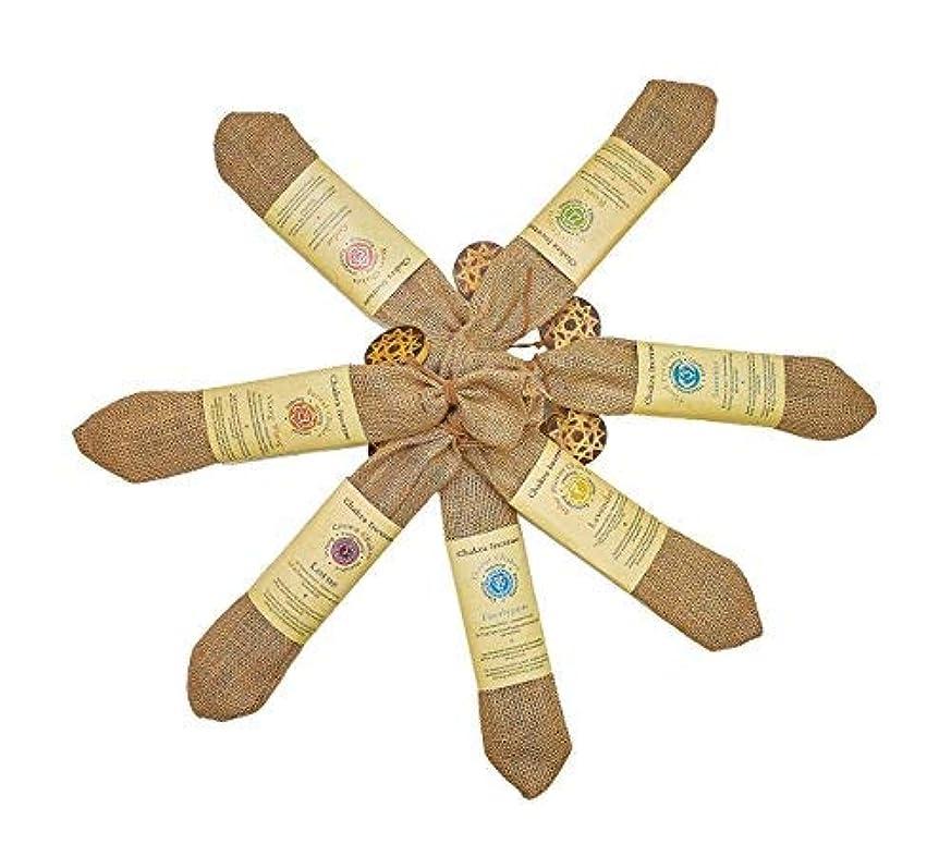 純正Chakra Incense Sticks 210 sticks Variety Pack of 7異なるFlavors