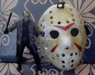13日の金曜日 ジェイソン 風 マスク コスチューム用小物 約24.5cm×20cm