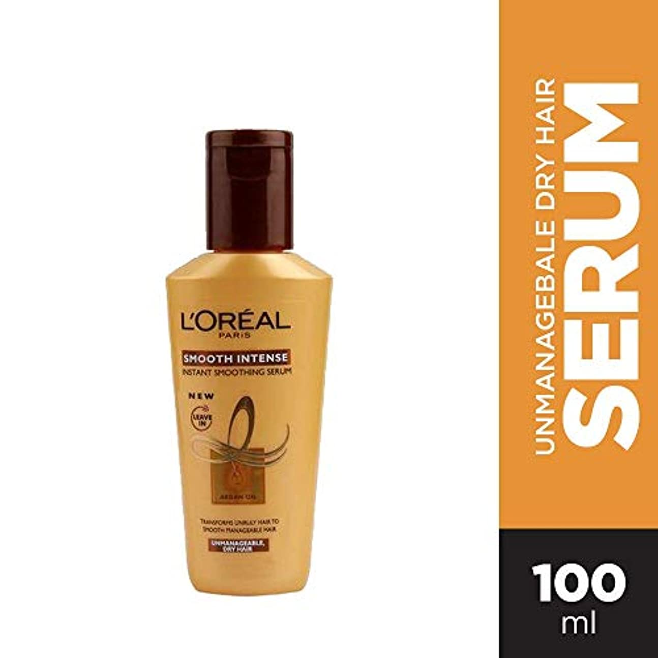 効率経過夕食を作るL'Oreal Paris Smooth Intense Instant Smoothing Hair Serum, 100ml