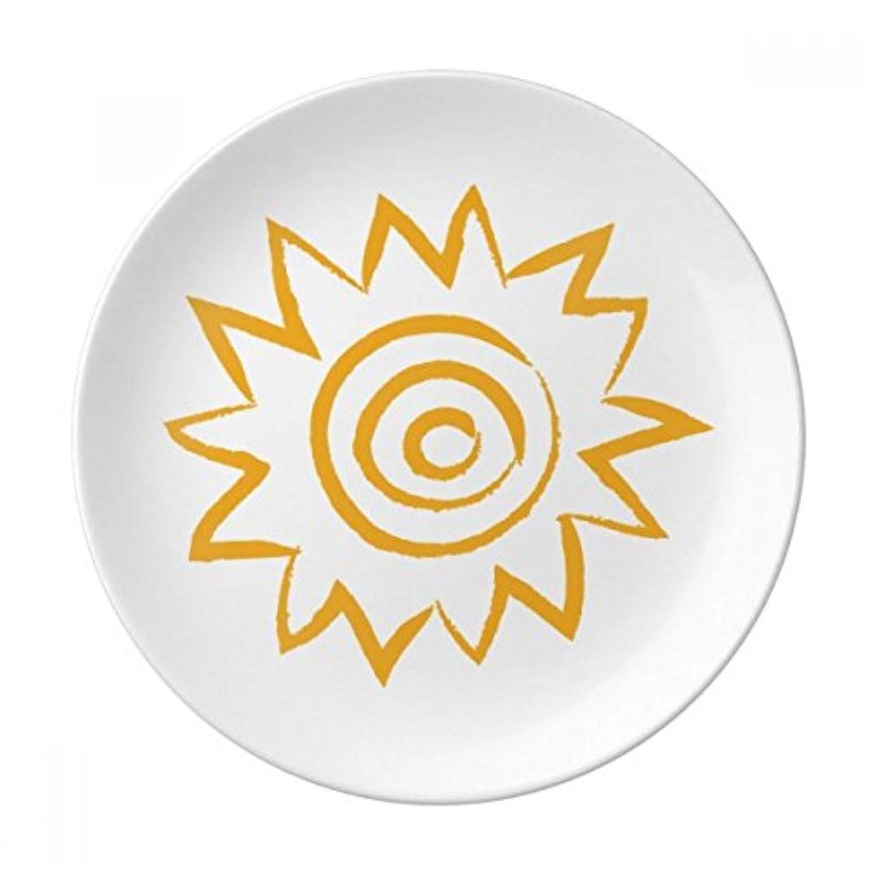 イエローSun Sunshineハンドペイント装飾磁器デザートプレート8インチディナーホームギフト