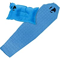 Self Inflating Sleepingパッド&枕セット – 2 Piece軽量Sleepセットfor Camping or Travel by Lish ブルー