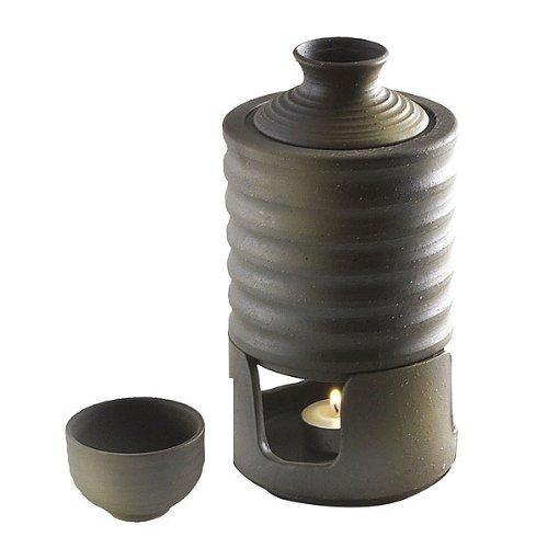 日本酒・焼酎用 陶器製燗冷器3点セット うでぃ(徳利