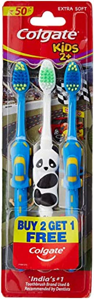 純粋な変形カイウスColgate Toothbrush for Kids 2+ (Pack of 3) Color May Vary
