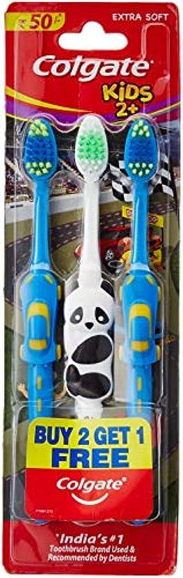 検出修正するガードColgate Toothbrush for Kids 2+ (Pack of 3) Color May Vary
