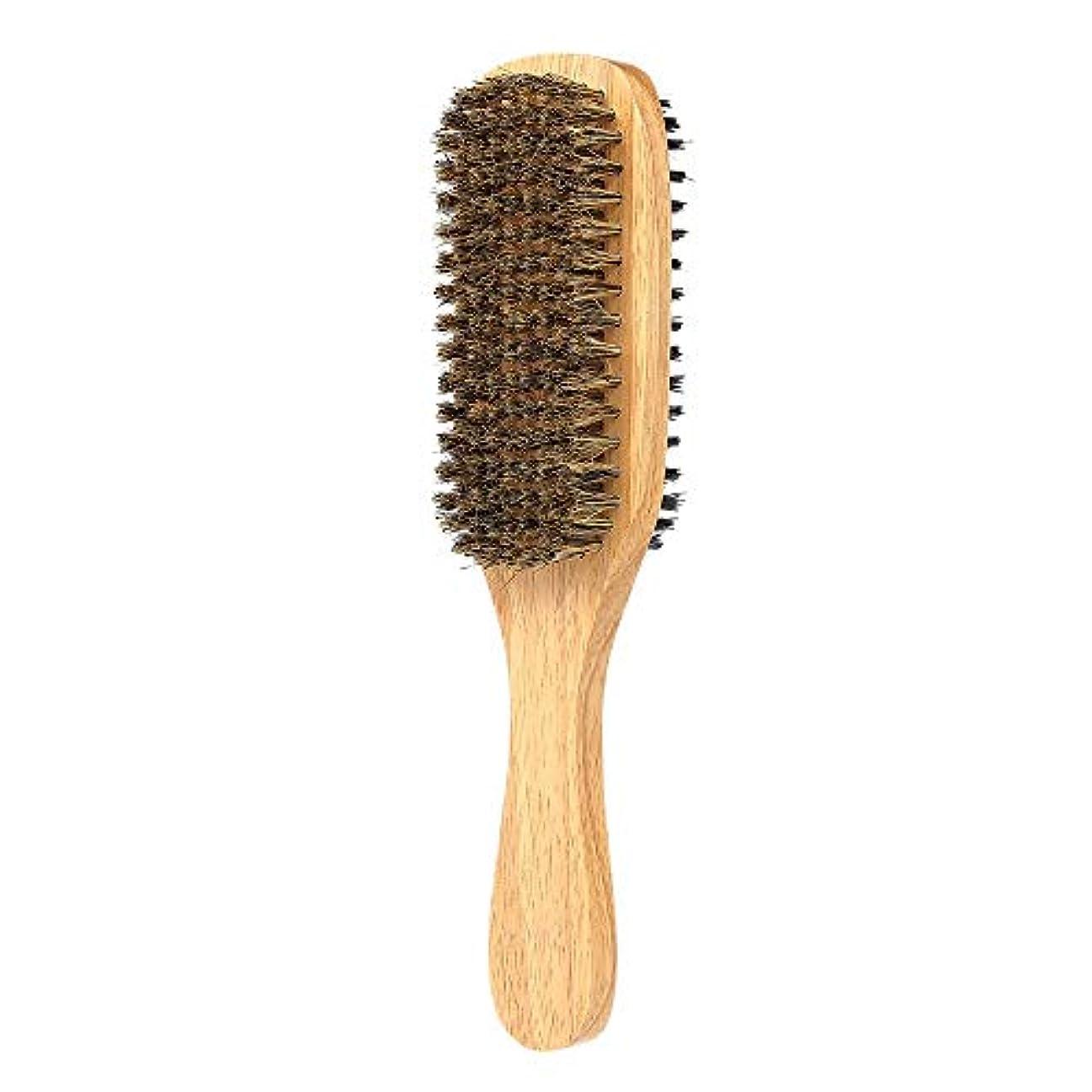 抑止するマリン相反するあごひげケア 美容ツール 口ひげのブラシ 男の顔のケア ひげブラシ 顔マッサージャー ひげ剃りツール サロンツール 木材 両面 (Size : 3)