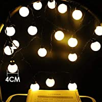 linannau 20 LEDグローブストリングライトは、パーティーツリーのバレンタイン、新年、寝室、結婚式、クリスマスの装飾のための5メートルのワイヤーの妖精ランプを導いた (Color : ホワイト, サイズ : Transparent line)
