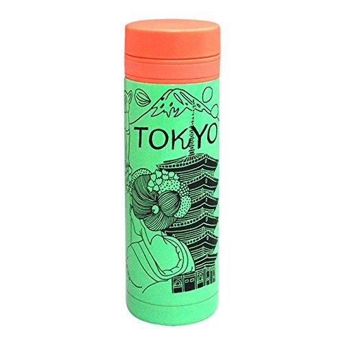 アレックスヤン シティボトル TOKYO 真空ステンレス 250ml グリーン×オレンジ AY010-250-1