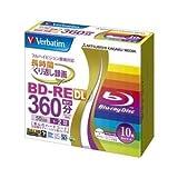 生活日用品 BD-RE 2層 録画用 260分 1-2倍速 5mmケース10枚パック ワイド印刷対応 VBE260NP10V1