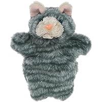 mikkar Plush Fingerおもちゃ猫キュートカートゥーン動物人形キッズグローブHand Puppet one size グレイ