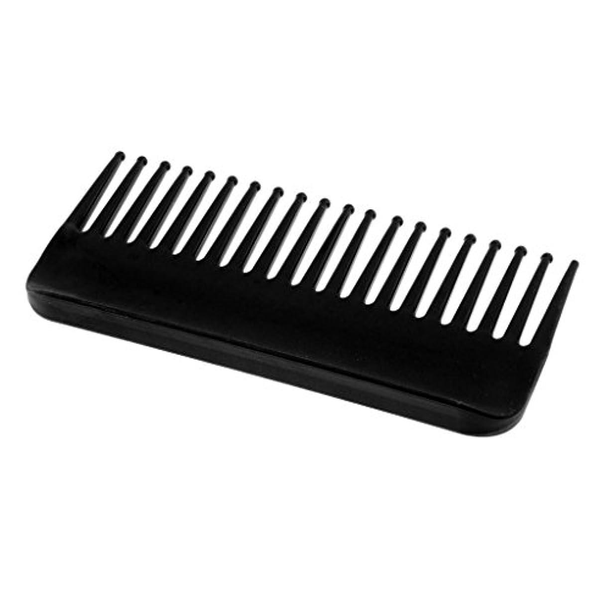 容器土困惑ヘアコーム コーム くし 頭皮 マッサージ プラスチック性 ヘアスタイリング 4色選べる - ブラック