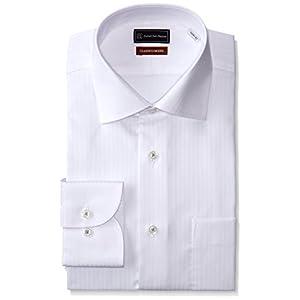 (ピーエスエフエー) P.S.FA クラシコモデル 形態安定 長袖 セミワイドカラーワイシャツ M151180068 01 ホワイト L84(首回り41cm×裄丈84cm)