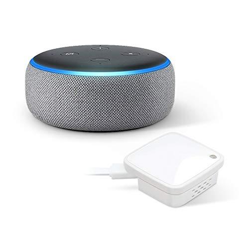 ラトックシステム スマート家電コントローラ RS-WFIREX4 + Amazon Echo Dot (第3世代)、ヘザーグレー