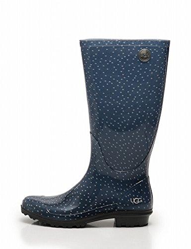 (アグ・オーストラリア) UGG australia レインブーツ 長靴 ラバー ネイビー 白 SHAYE DOTS 1013036 中古