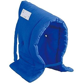 デビカ 防災ずきん ハイグレード ブルー サイズ:約W30×D7×H42cm