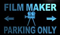 LED看板 ネオンプレート サイン 電飾・店舗看板・標識・サイン カフェ バー ADV PRO m314-b Film Maker Parking Only Neon Light Sign