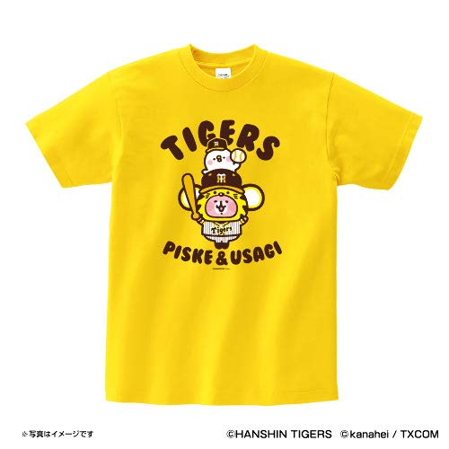 阪神タイガース カナヘイの小動物 × タイガース (イエロー) - L