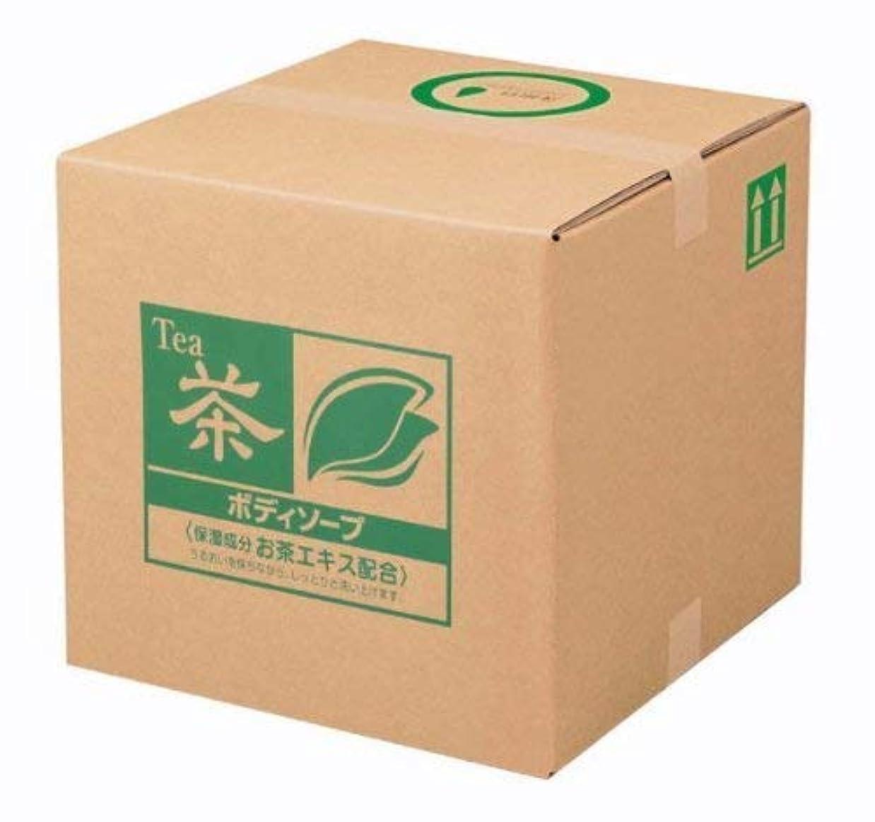 収まるメール着実に業務用 SCRITT(スクリット) お茶 ボディソープ 18L 熊野油脂 (コック付き)