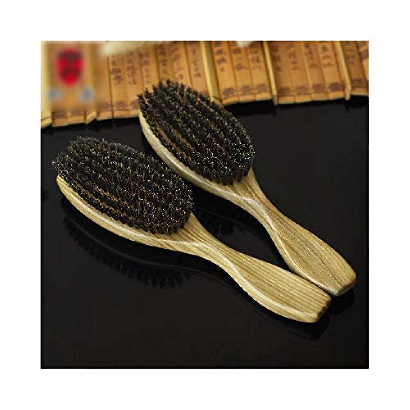 怒り改善競うFashianサンダルウッドヘアコーム、毛のくし頭皮マッサージくし帯電防止ヘアブラシ ヘアケア