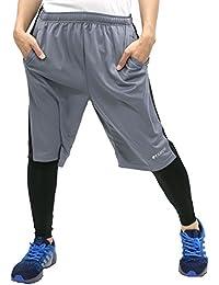 [ケイパ] ランニングウェア ジャージ ショートパンツ コンプレッション タイツ セット ハーフパンツ メンズ
