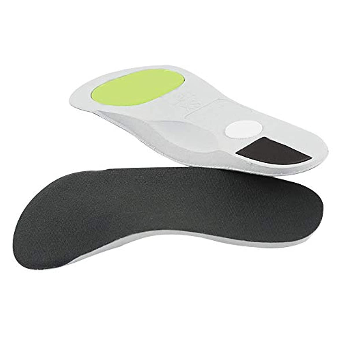 厳姪時間厳守矯正インソールアーチサポートインソールトリートメントフラットフット足の痛みを和らげますフィットネス、ランニング、テニス用の通気性のある滑り止めアーチヒール,L