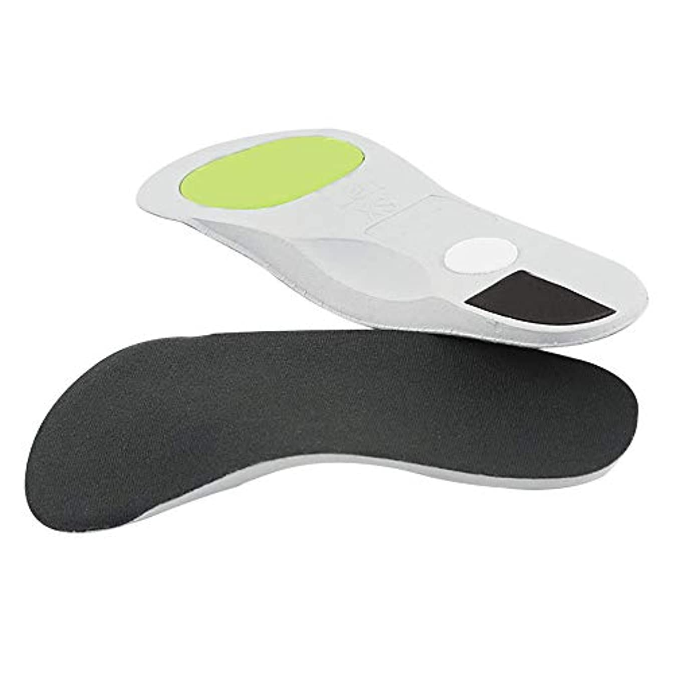 かまど熟読支給矯正インソールアーチサポートインソールトリートメントフラットフット足の痛みを和らげますフィットネス、ランニング、テニス用の通気性のある滑り止めアーチヒール,L