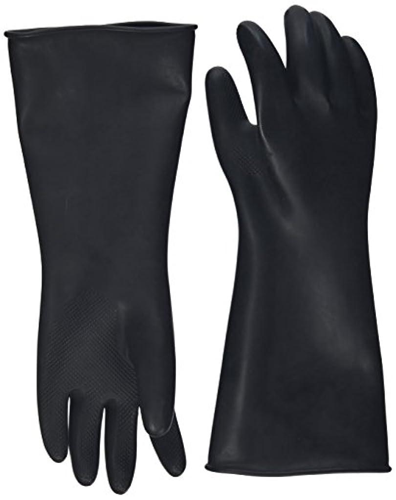 シロナガスクジラ動物正確ハナキゴム 工業用手袋ハナローブ No.436 滑り止め付き曲指型 ブラック