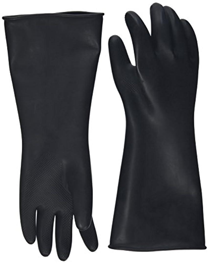 延期する書道祖先ハナキゴム 工業用手袋ハナローブ No.436 滑り止め付き曲指型 ブラック