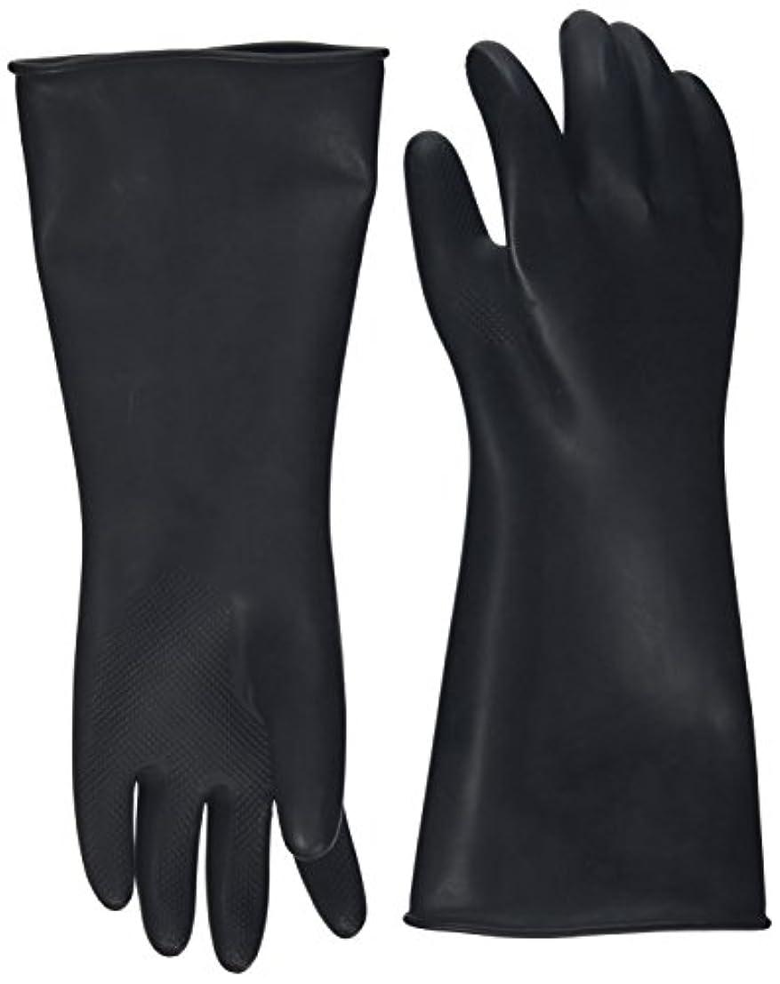 ラジウムのために古くなったハナキゴム 工業用手袋ハナローブ No.436 滑り止め付き曲指型 ブラック