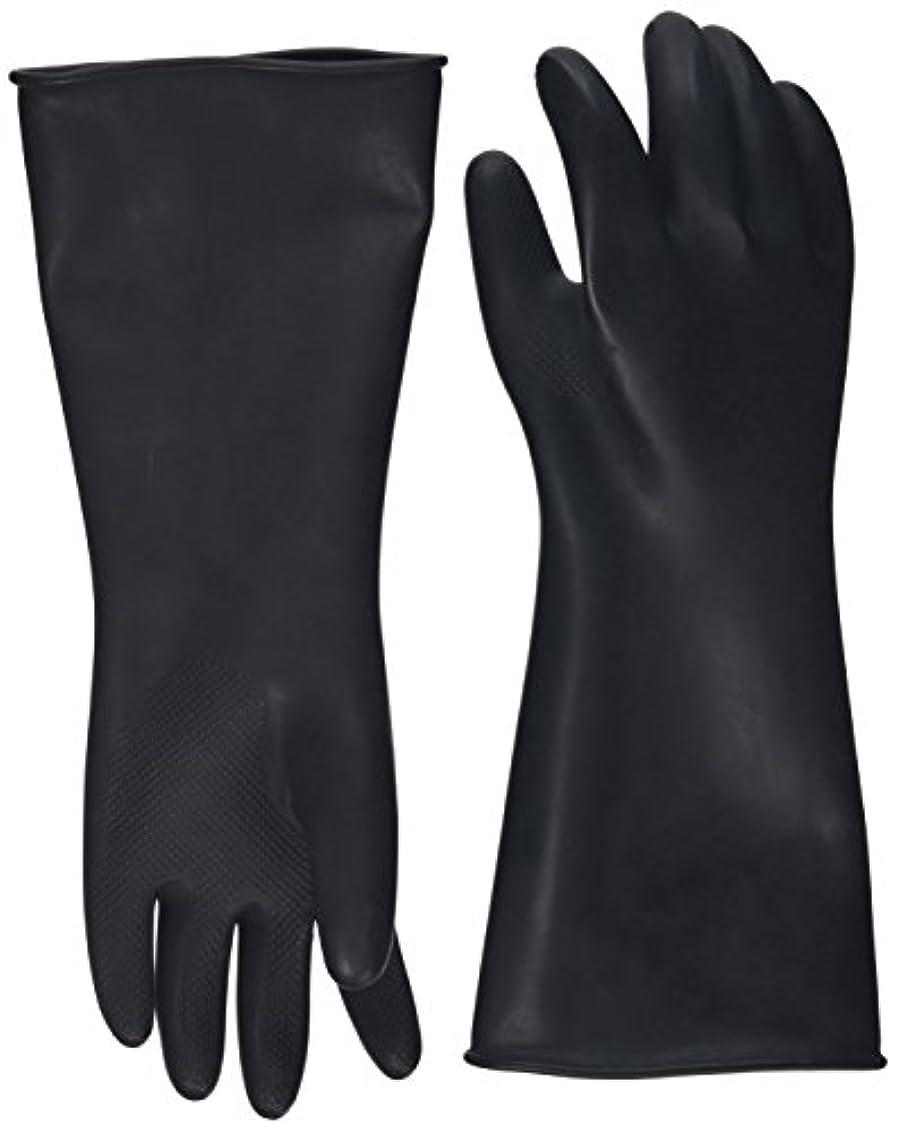 プール非行しおれたハナキゴム 工業用手袋ハナローブ No.436 滑り止め付き曲指型 ブラック