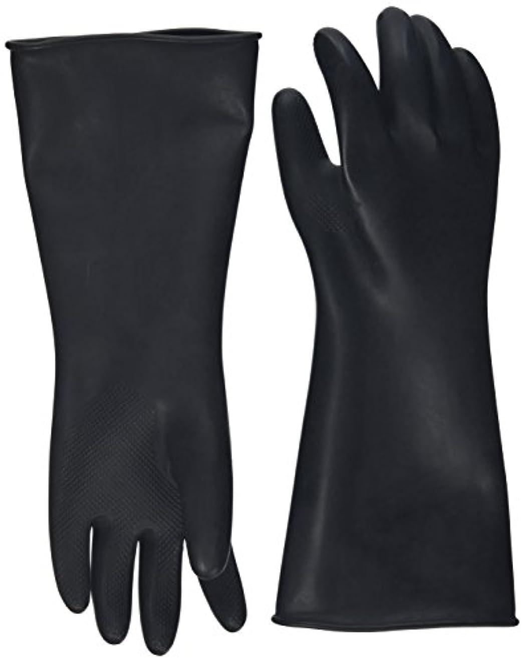 原因ライフルグループハナキゴム 工業用手袋ハナローブ No.436 滑り止め付き曲指型 ブラック