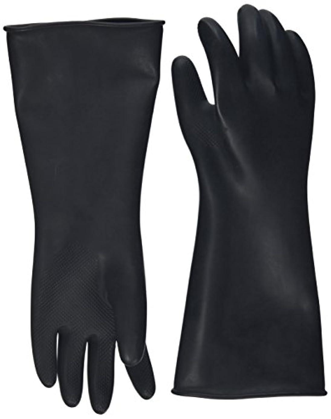 ハナキゴム 工業用手袋ハナローブ No.436 滑り止め付き曲指型 ブラック