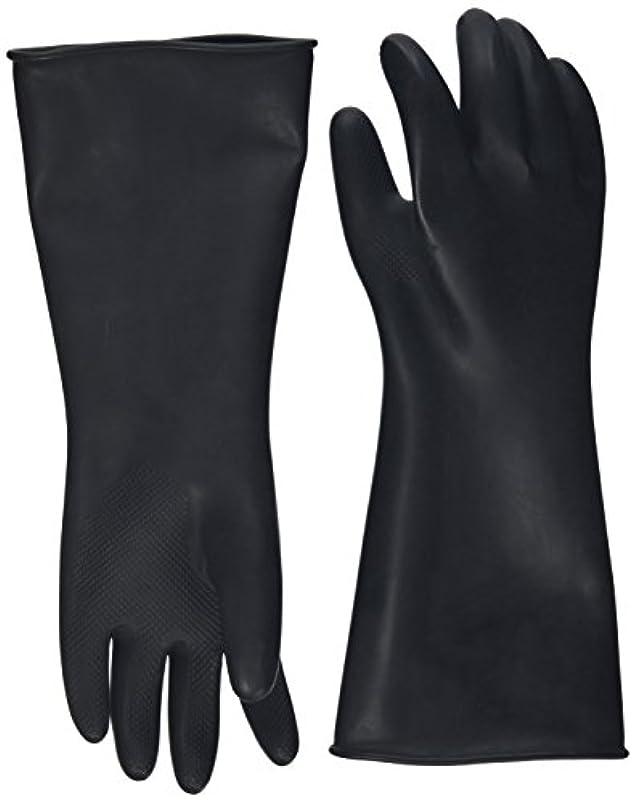 判決限界献身ハナキゴム 工業用手袋ハナローブ No.436 滑り止め付き曲指型 ブラック