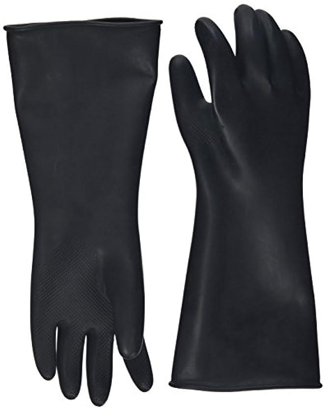 火曜日クリープランドマークハナキゴム 工業用手袋ハナローブ No.436 滑り止め付き曲指型 ブラック