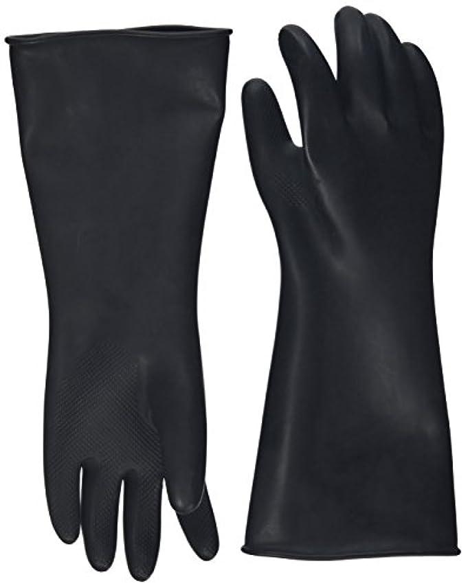 ほかにエンディング幸運ハナキゴム 工業用手袋ハナローブ No.436 滑り止め付き曲指型 ブラック
