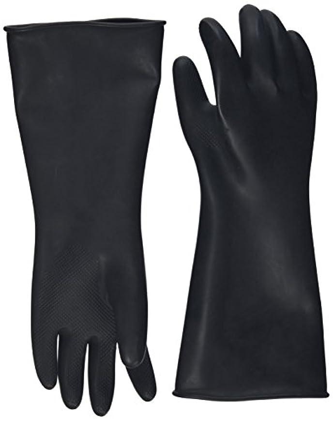 痴漢パッドカタログハナキゴム 工業用手袋ハナローブ No.436 滑り止め付き曲指型 ブラック