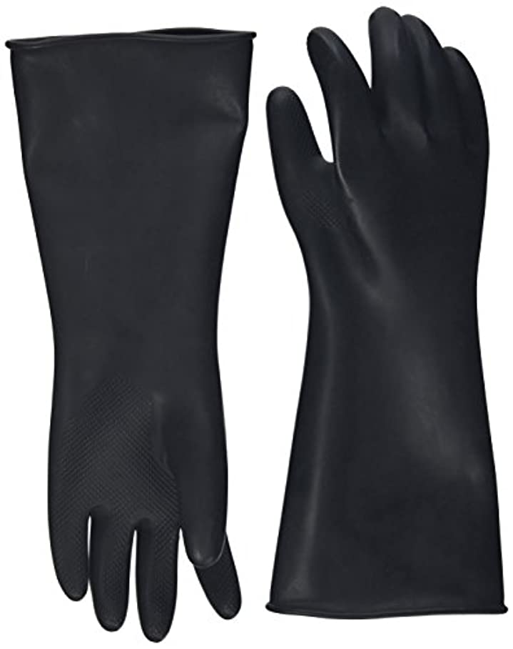 爪アデレードせがむハナキゴム 工業用手袋ハナローブ No.436 滑り止め付き曲指型 ブラック