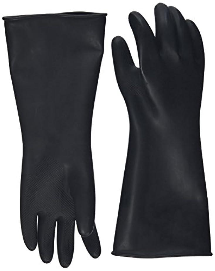 一元化する無限吸い込むハナキゴム 工業用手袋ハナローブ No.436 滑り止め付き曲指型 ブラック
