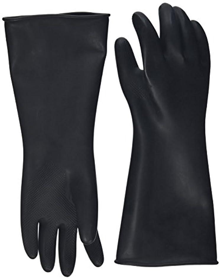困った五月ニンニクハナキゴム 工業用手袋ハナローブ No.436 滑り止め付き曲指型 ブラック