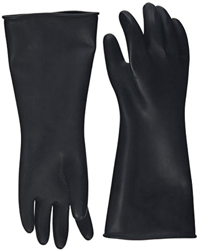 接触考古学火山学者ハナキゴム 工業用手袋ハナローブ No.436 滑り止め付き曲指型 ブラック