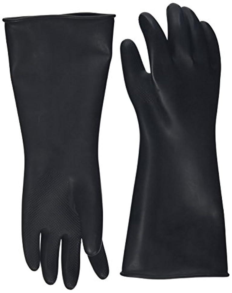 焼く究極の変化するハナキゴム 工業用手袋ハナローブ No.436 滑り止め付き曲指型 ブラック