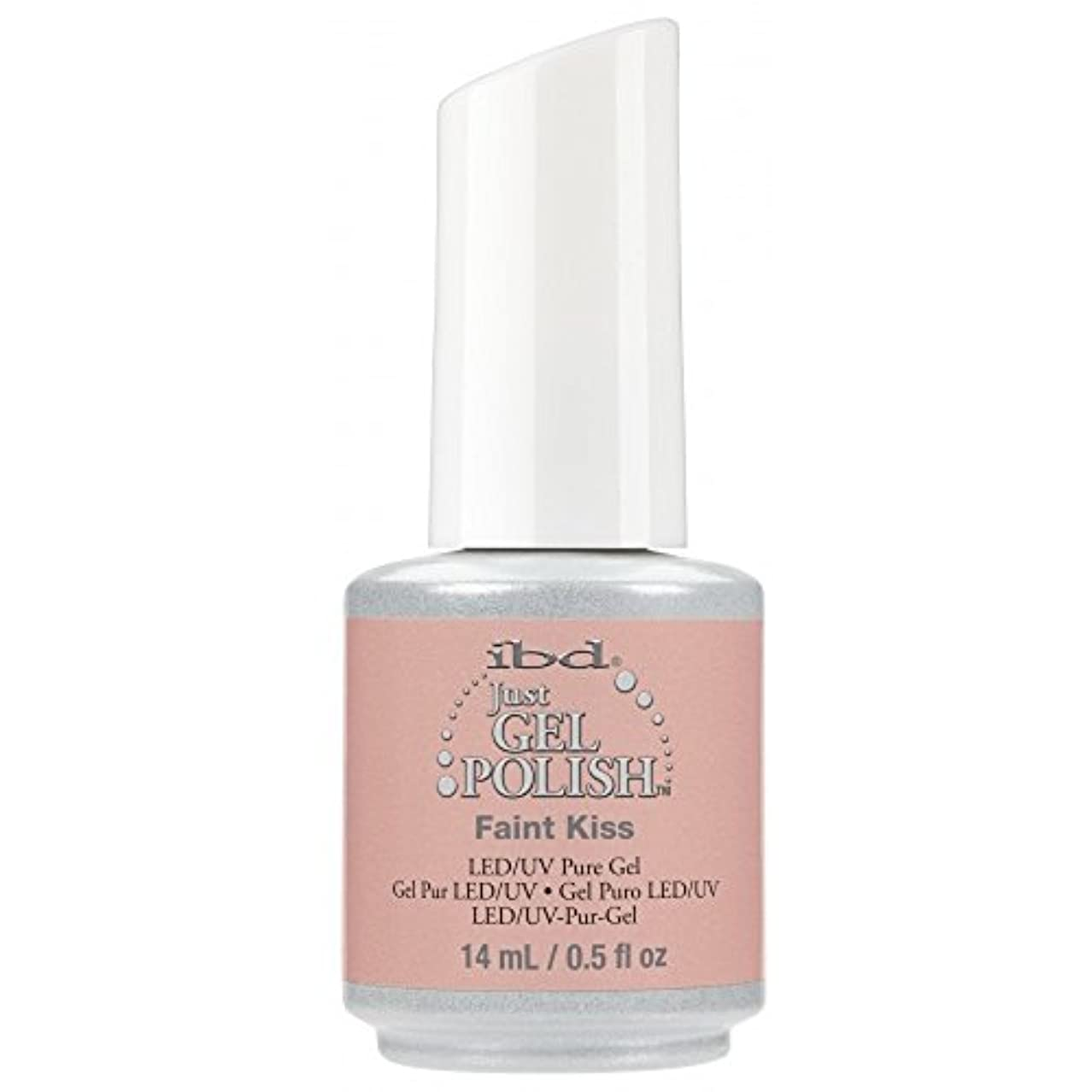 応じるゴージャス船形ibd Just Gel Nail Polish - 2017 Nude Collection - Faint Kiss - 14ml / 0.5oz