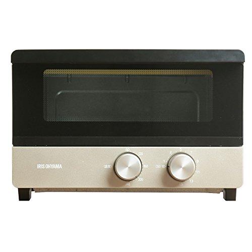 赤外線 オーブントースター トースト4枚 無段階温度調整機能 シャンパンゴールド アイリスオーヤマ(IRIS OHYAMA) アイリスオーヤマ POT-412FM-N